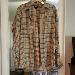 Burberry long sleeve flannel